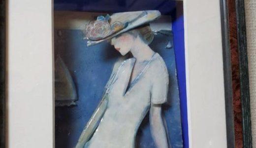 白いドレスの乙女ーシャドーボックス④