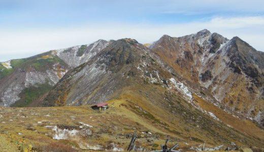 秋の那須岳登山ー茶臼岳・朝日岳
