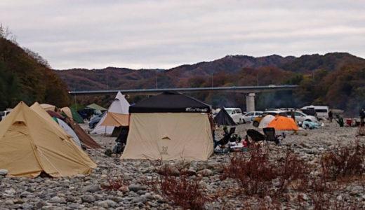 かわせみ河原で一人キャンプ