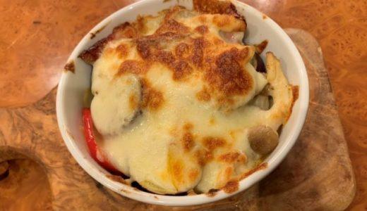 私流❤️サツマイモと野菜のチーズ焼き