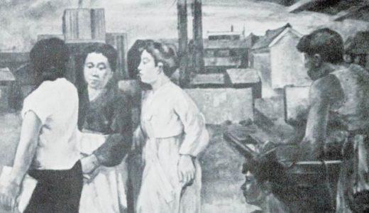成人学校に出かける母親たち