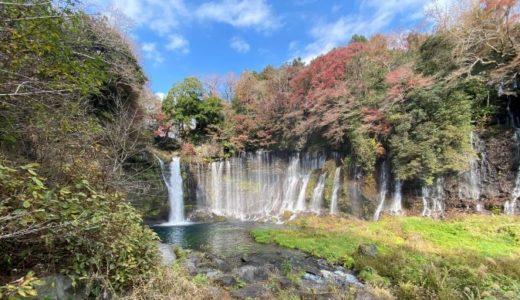 秋の白糸の滝を見に行く