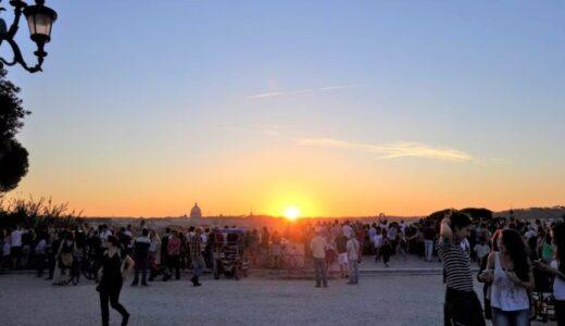 ピンチョの丘と夕日