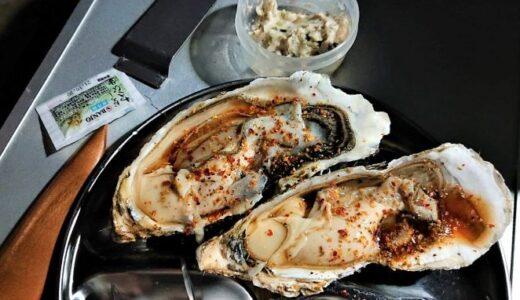 今夜は角上魚類で購入した牡蠣をポン酢で…